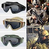 Тактические очки маска Revision Desert Locust баллистические стрелковые военные, фото 1