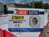Розетка с заземлением Horoz Electric EVA, фото 2