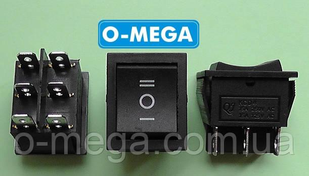 Кнопочный выключатель, Клавиша широкая, 3 положения с фиксацией 28,5 * 22,0 мм.