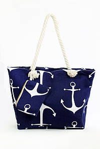 Пляжная сумка Крит темно-синяя