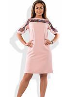 Красивое женское платье с вышивкой размеры от XL ПБ-435