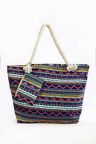 Пляжная сумка Крит сиреневая