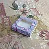 Коробка для пряников Печать Магнолия с окном   120*120*30