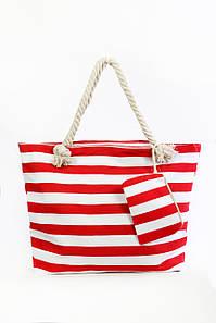 Пляжная сумка Крит красный+белый