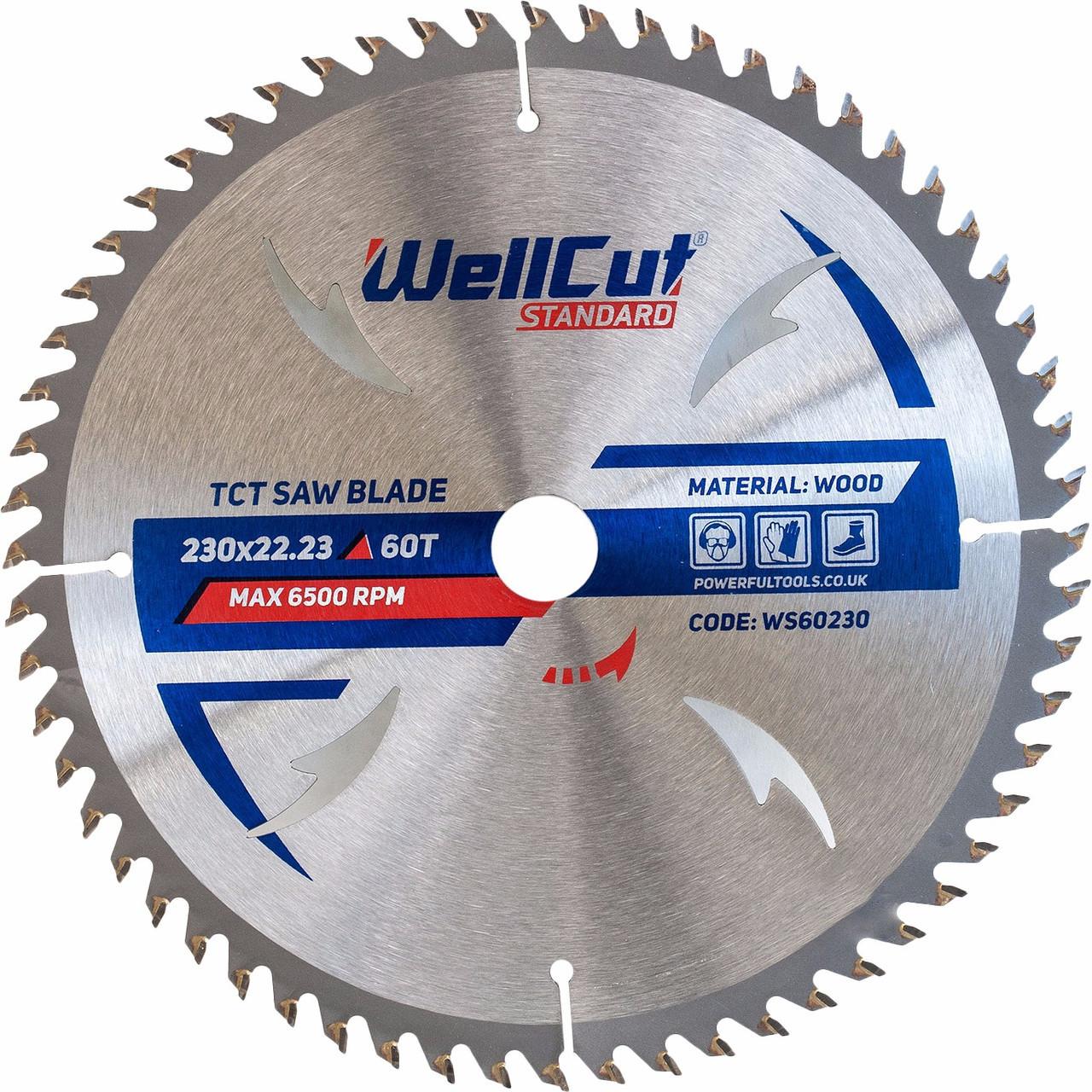Диск пильный по дереву WellCut Standard 230*22.23  60 t