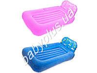Bestway Надувная кровать покрытая флоком, детская, проектор, 2 цвета