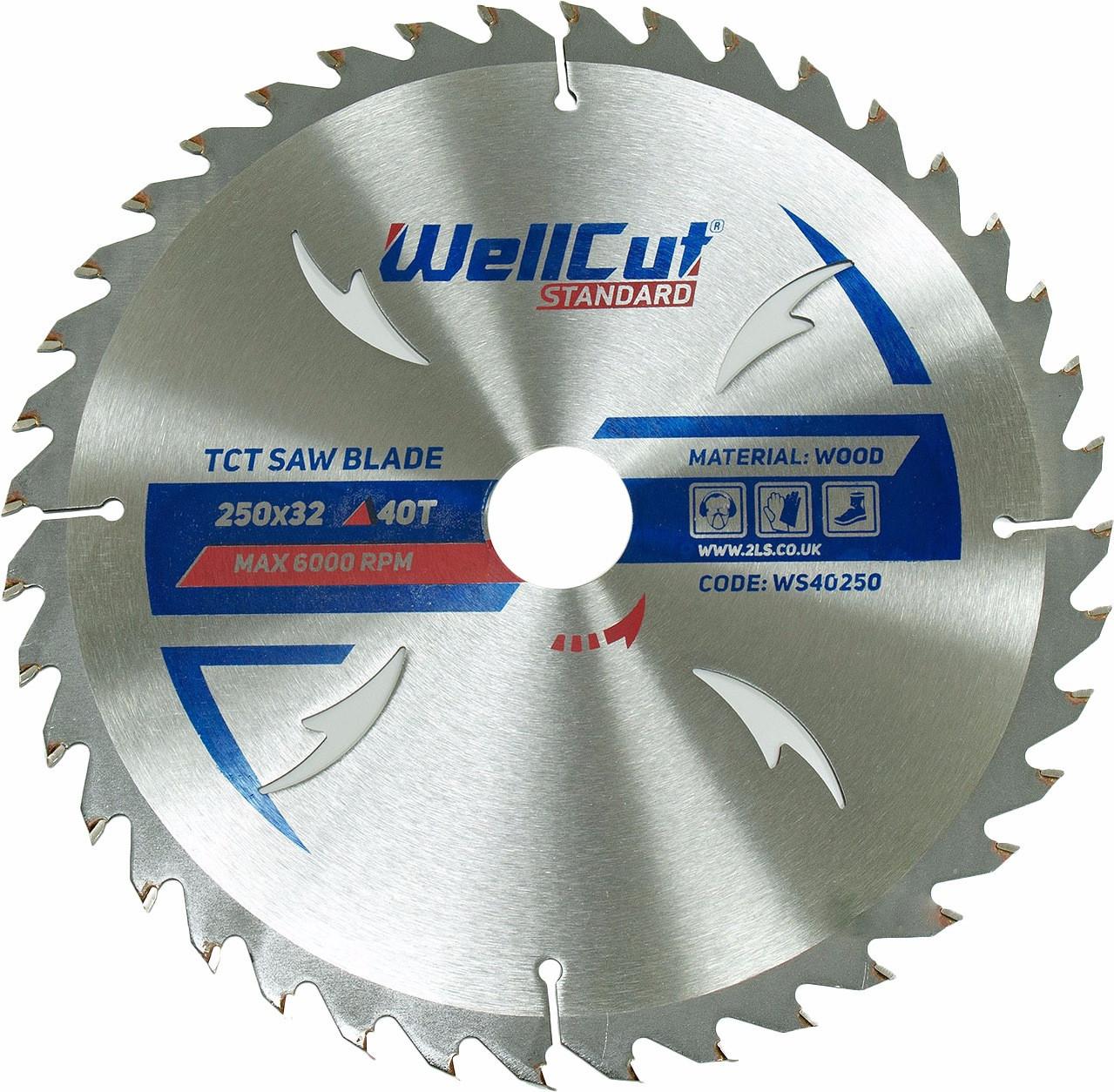 Диск пильний по дереву WellCut Standard 250*32 40 t