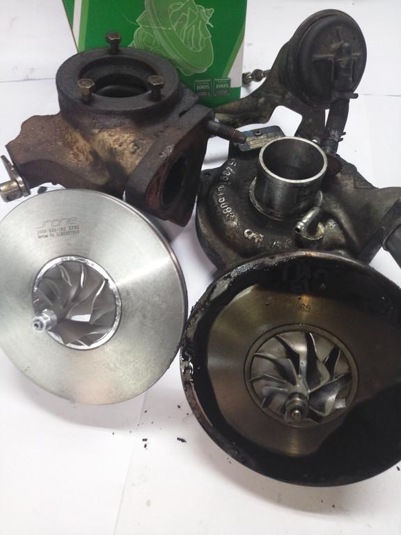 Замена картриджа турбины 54359700033 RENAULT KANGOO II, K9K 1.5 DCI, 45-63 KW