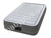Intex Велюр кровать, со встроенным электро насосом 220В, усиленная конструкция (внутренние перегородки)
