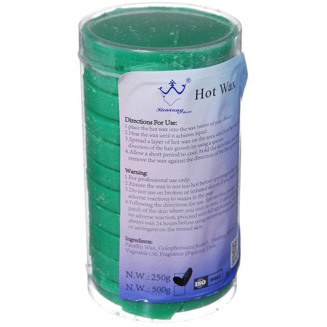 Воск для депиляции в таблетках Hot Wax, 250 г Зеленый