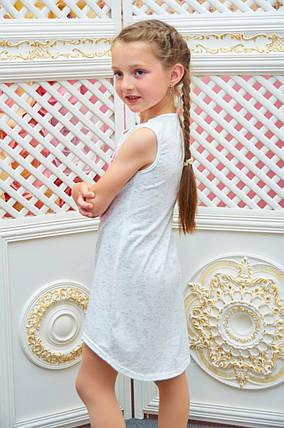 Летний сарафан для девочки  р.110-122 белый, фото 2
