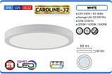 """Накладной потолочный светодиодный LED светильник Horoz Electric """"Caroline-32"""" 32W 6000K, фото 2"""