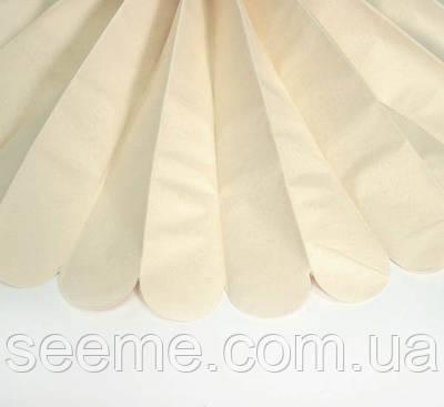 Паперові помпони з тишею «Dune Beige», діаметр 25 див.
