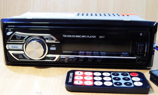 Автомагнітола Pioneer 6317 1DIN MP3 RGB універсальна автомобільна магнітола
