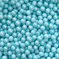 Шарики голубые d 4-5 мм.10г/уп, фото 1