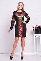 Платье Талина красные маки д.р. (2цв), платье с вышивкой, белое платье