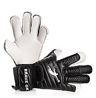 Вратарские перчатки Brave GK Rescuer Black SMU Fingers Control