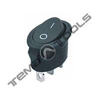 Перемикачі клавішні (рокерные) КП-11-220В овальний, 3 контакту, ON-OFF або ON-ON з фіксацією