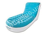 Intex Велюр кресло-шезлонг, цвет бирюзовый, до 100кг, в кор-ке