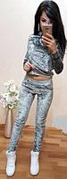 Бархатный костюм женский  никн430, фото 1