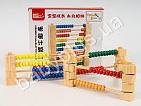 Деревянная игрушка Счеты, конструктор, в кор-ке
