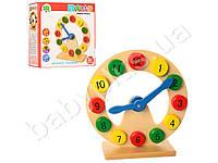 Деревянная игрушка Часы 20см, в кор-ке