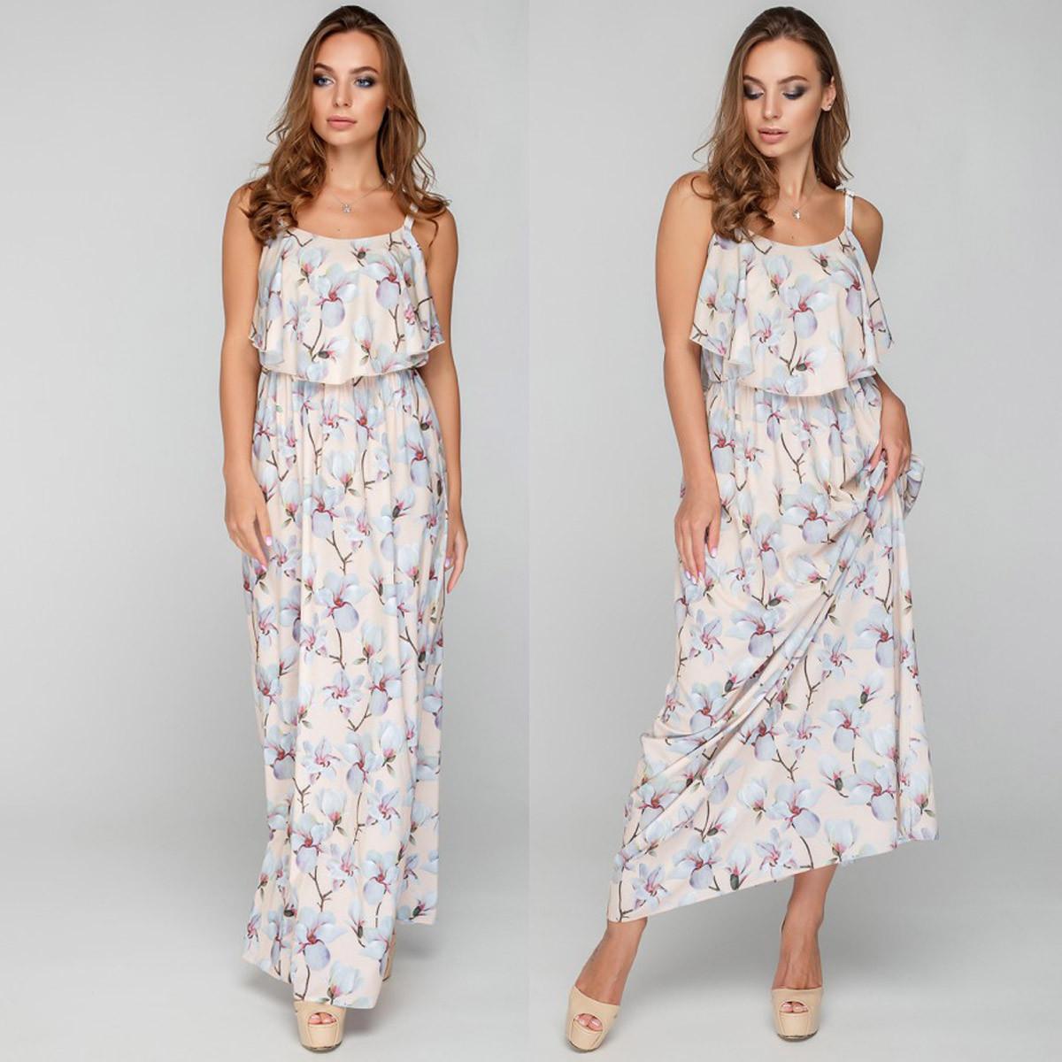 170565b5183 Длинные платья и сарафаны женские размер M