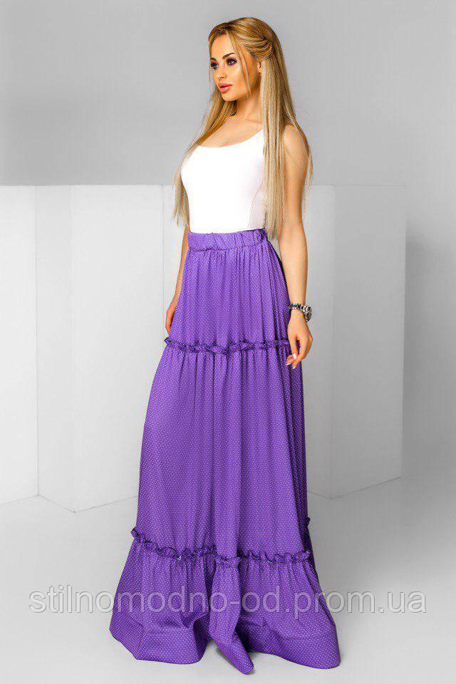 Шелковая юбка макси с высокой талией