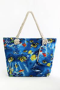Пляжная сумка Фаафу ярко-синяя