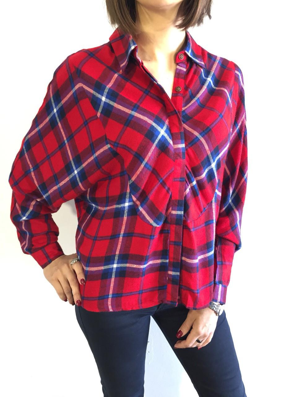 e8f149173b4 Рубашка женская клетчатая красная 7837 M - ОПТ И РОЗНИЦА ПО НИЗКИМ ЦЕНАМ в  Павлограде