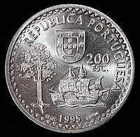 Монета Португалии 20 эскудо 1995 г.