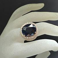 Кольцо серебро 925 пробы сапфир 12,95 карат, фото 1