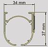 Карниз для римского механизма (профиль), фото 3