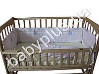 Комплект в кроватку 4 предмета Воздушные шарики (простынь, подушка 40Х60, бортики 30см., одеяло)