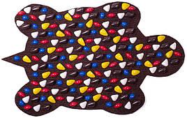 Массажный коврик «ОРТОПЕД» с камнями (Черепаха) 80х50 см