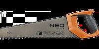 Ножовка по дереву, 400 мм, 450мм, 500мм, 7TPI, PTFE, NEO  41-011, 41-016, 41-021