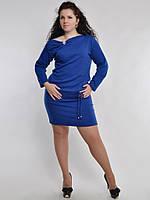 Платье мини батальных размеров.078/1