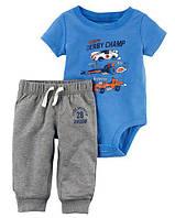 """Набор Carter's для мальчика штанишки и бодик """"Скорость"""""""
