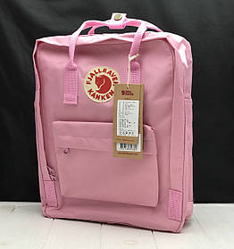 Рюкзак Канкен сумка портфель Kanken Fjallraven Classic текстиль рефлективное лого 8 цветов 16л реплика Новое, Розовый