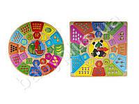 Деревянная игрушка Часы, 2 вида (фрукты-ягоды,животные), в кульке