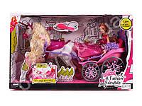 Карета с лошадью, 47см, кукла 29см, расческа, в кор-ке