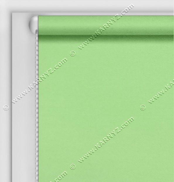 Рулонные шторы Блэкаут Студио салатовый светлый C-413