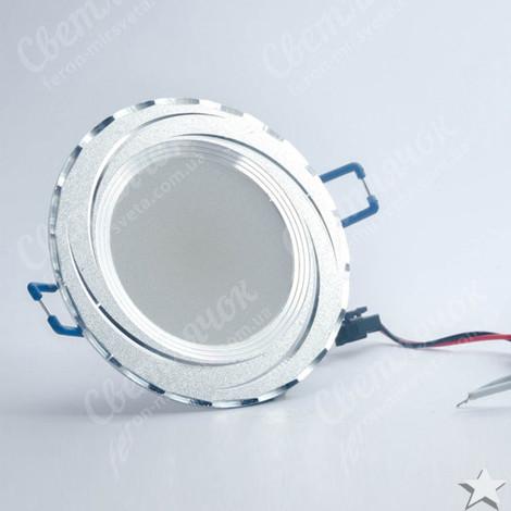 Светильник светодиодный встраиваемый 5w Feron AL777 4000К серебро