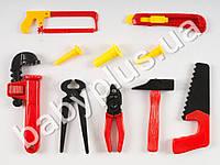 Набор инструментов, пила, плоскогубцы, ключи, молоток, лобзик, в кульке