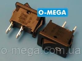 Кнопочный выключатель, Клавиша мини, 2 контакта, с фиксацией, защёлка 18,8 * 12,9 мм.