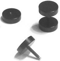 Плаги-обманки (8мм) из медицинской стали, титановое анодирование., фото 1