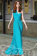 Голубое платье-трансформер без рукавов