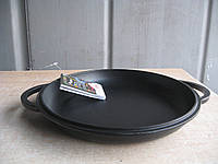 Крышка-сковорода чугунная, эмалированная.  Диаметр 240мм.
