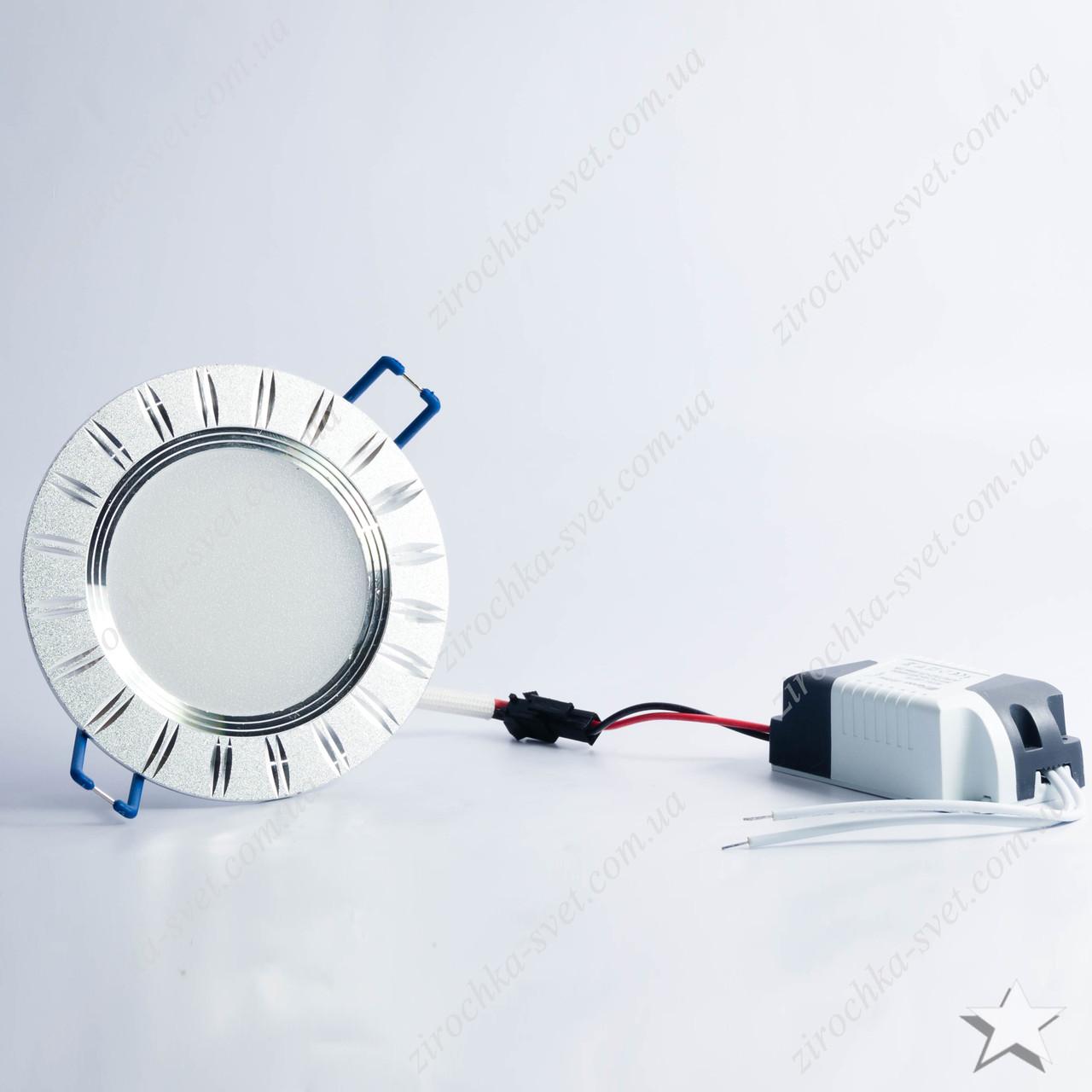 Светильник светодиодный встраиваемый 5w Feron AL779 4000К серебро