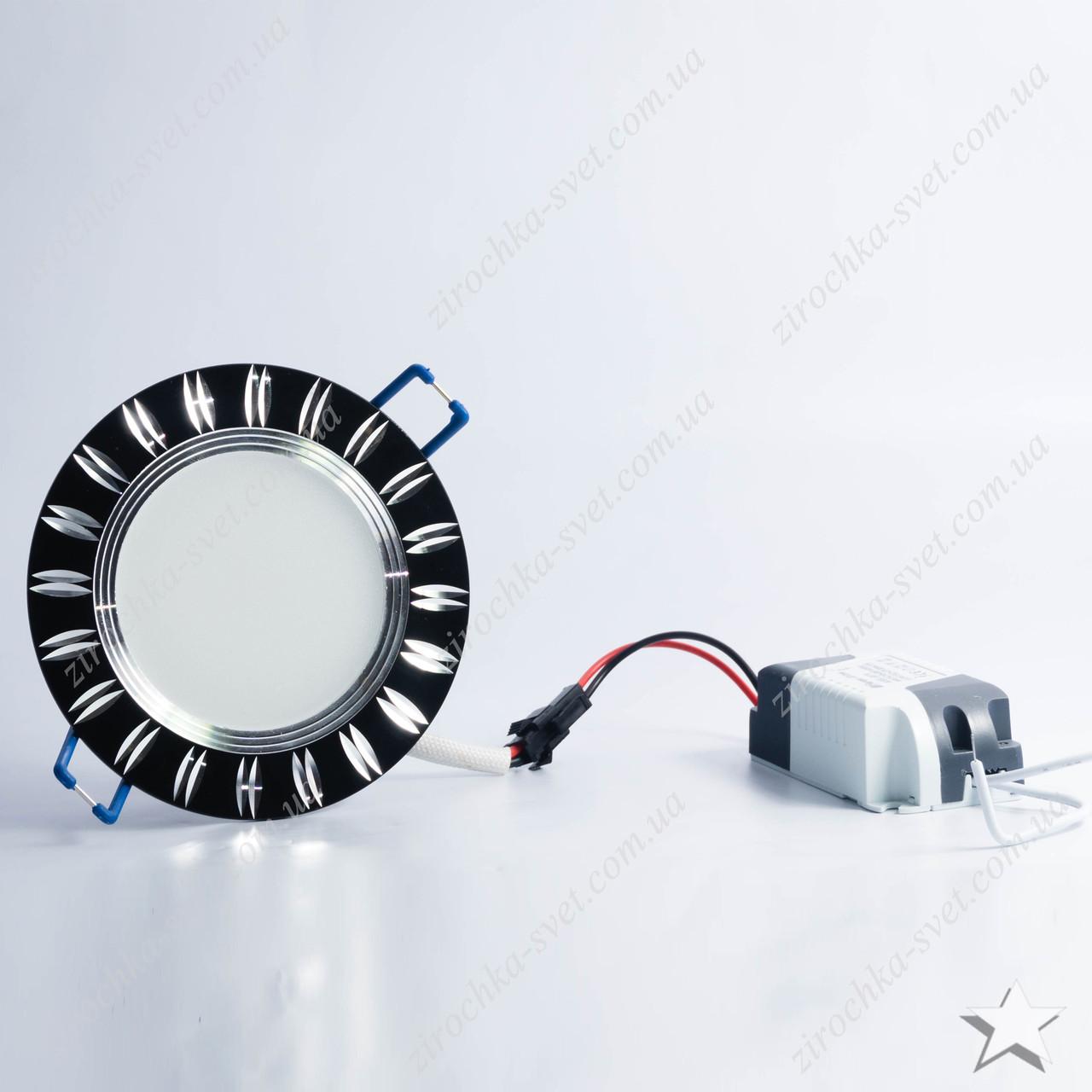 Светильник светодиодный встраиваемый 5w Feron AL779 4000К черный
